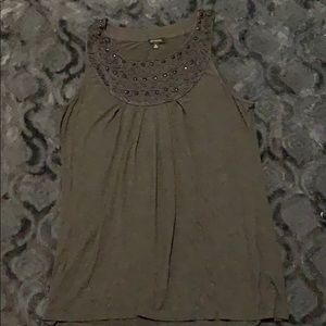 Saks Fifth Avenue sleeveless grey shirt size XL